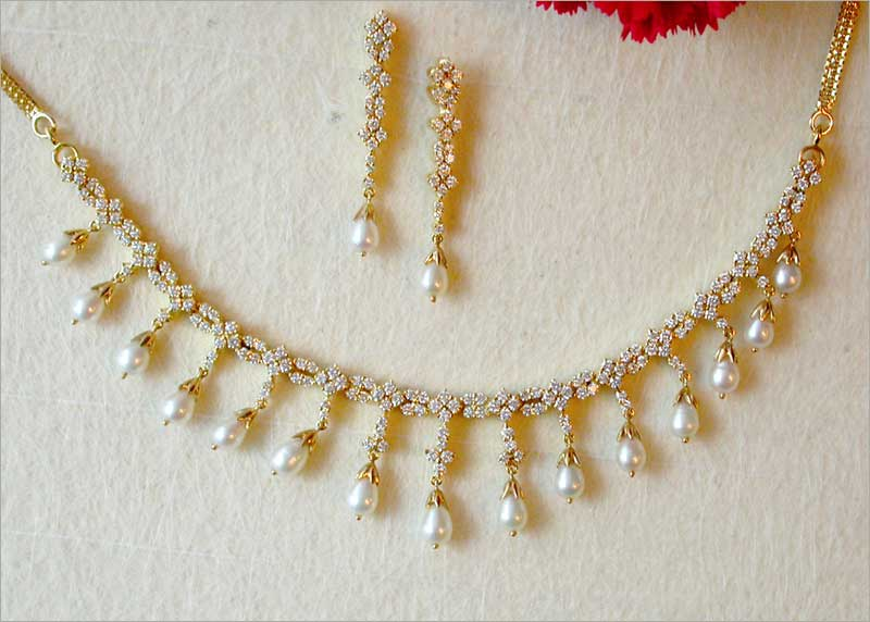 Diamond necklace diamond necklaces diamond pendant necklace price rs mozeypictures Choice Image