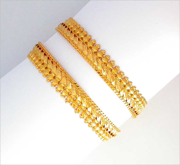 Bangles With Price: Gold Plated Bangles, Gold Charm Bracelet, Gold Bangles